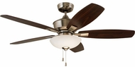 Emerson Ceiling Fans CF825BS Lindell Brushed Steel LED 52  Ceiling Fan