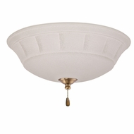 Emerson Ceiling Fans LK141LEDAB Grande White Mist Antique Brass LED Fan Light Fixture