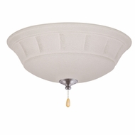Emerson Ceiling Fans LK141LEDBS Grande White Mist Brushed Steel LED Ceiling Fan Light Fixture