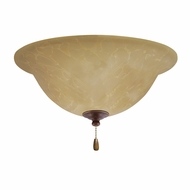 Emerson Ceiling Fans LK71LEDGBZ Amber Parchment Gilded Bronze LED Ceiling Fan Light Fixture