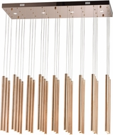 ET2 E10010-RG Flute Modern Rose Gold LED Multi Hanging Light Fixture