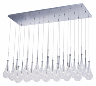 ET2 E20518-18PC Contemporary Polished Chrome 14.5  Tall Multi Pendant Lighting