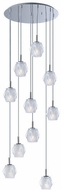 ET2 E20717-82PC Tangent Modern Polished Chrome LED Multi Pendant Lighting