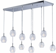 ET2 E20719-82PC Tangent Contemporary Polished Chrome LED Multi Pendant Light
