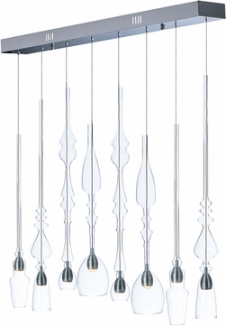 ET2 E20746-18PC Anastasia Modern Polished Chrome LED Multi Pendant Light Fixture