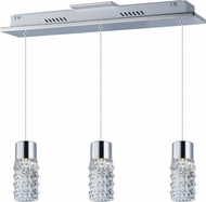 ET2 E20773-18PC Polka Contemporary Polished Chrome LED Multi Pendant Lighting Fixture