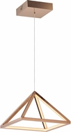 ET2 E20815-RG Pyramid Contemporary Rose Gold LED 12  Hanging Pendant Light