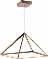 ET2 E20817-RG Pyramid Contemporary Rose Gold LED 20  Drop Ceiling Lighting