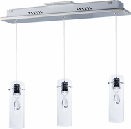 ET2 E21113-18PC Solitaire Contemporary Polished Chrome LED Multi Pendant Lighting