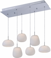 ET2 E21124-11WT Puffs Contemporary Matte White LED Multi Hanging Pendant Light