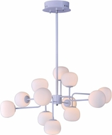 ET2 E21126-11WT Puffs Modern White LED Chandelier Light