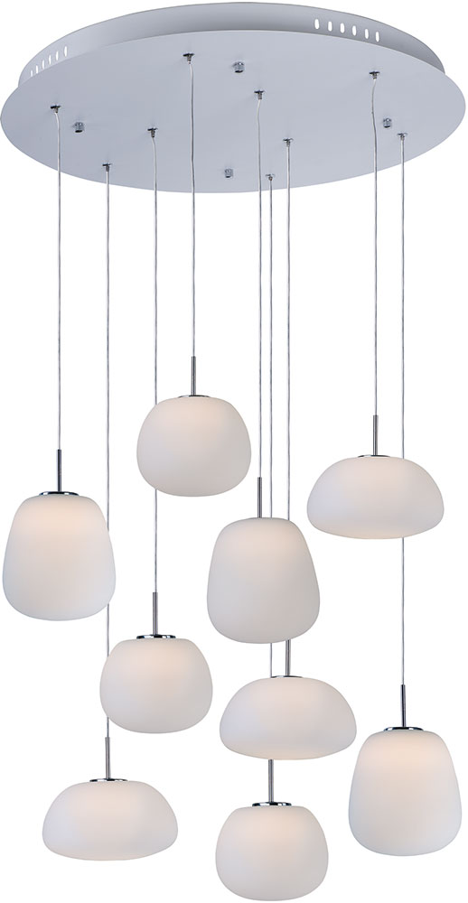 Et2 e21127 11wt puffs contemporary matte white led multi hanging et2 e21127 11wt puffs contemporary matte white led multi hanging light fixture loading zoom mozeypictures Image collections