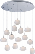 ET2 E21129-11WT Puffs Modern Polished Chrome LED Multi Drop Lighting