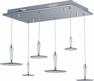 ET2 E21166-01PC Hilite Contemporary Polished Chrome LED Multi Drop Lighting