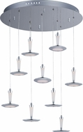 ET2 E21169-01PC Hilite Contemporary Polished Chrome LED Multi Ceiling Light Pendant