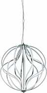 ET2 E21176-PC Aura Contemporary Matte White LED Ceiling Pendant Light