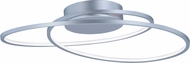 ET2 E21322-MS Cycle Modern Matte Silver LED Ceiling Light