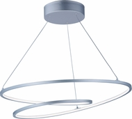 ET2 E21325-MS Cycle Contemporary Matte Silver LED Pendant Lighting