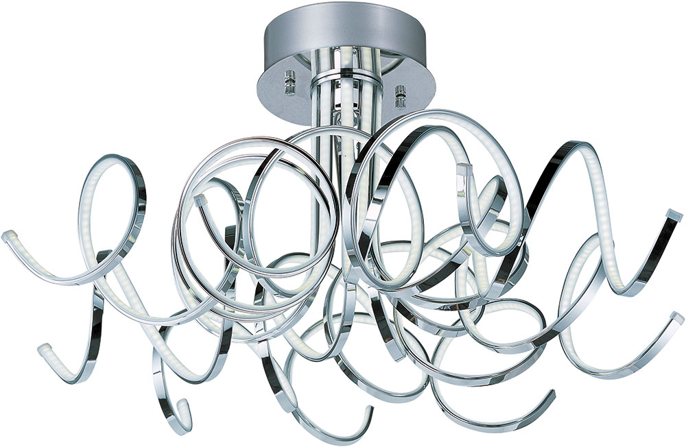 Et2 e21410 pc chaos contemporary polished chrome led ceiling light et2 e21410 pc chaos contemporary polished chrome led ceiling light fixture loading zoom mozeypictures Image collections