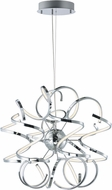 ET2 E21411-PC Chaos Modern Polished Chrome LED 24  Pendant Lighting
