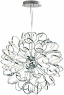 ET2 E21413-PC Chaos Modern Polished Chrome LED 40  Lighting Pendant