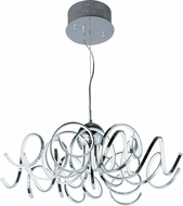 ET2 E21415-PC Chaos Modern Polished Chrome LED Drop Lighting Fixture