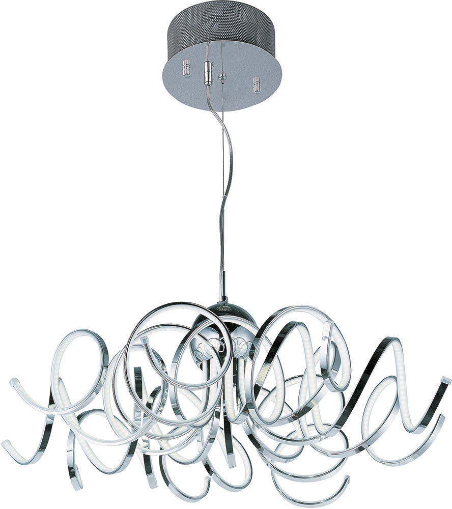 ET2 E21415PC Chaos Modern Polished Chrome LED Drop Lighting Fixture