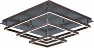 ET2 E22408-BZ Quad Contemporary Bronze LED Flush Mount Light Fixture