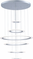 ET2 E22664-11MS Saturn II LED Contemporary Matte Silver Multi Pendant Lighting Fixture