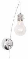ET2 E22691-18PC Edison Contemporary Polished Chrome Finish 4.75  Wide Xenon Lamp Sconce
