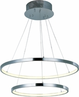 ET2 E22714-PC Hoops Contemporary Metallic Silver LED Multi Pendant Lamp