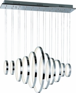 ET2 E22716-PC Hoops Contemporary Metallic Silver LED Multi Hanging Light