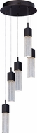 ET2 E22765-89BZ Fizz III Contemporary Bronze LED Multi Pendant Lamp