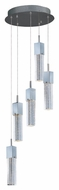 ET2 E22765-89PC Modern Polished Chrome 13.75  Wide Multi Pendant Light