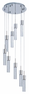 ET2 E22779-91PC Contemporary Polished Chrome Hanging Multi Pendant Lighting