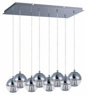 ET2 E22786-81PC Contemporary Polished Chrome 6.5  Tall Multi Pendant Lamp