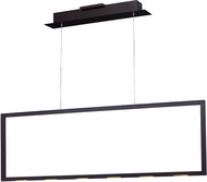 ET2 E22864-BZ Rhombus Contemporary Polished Chrome LED Kitchen Island Light