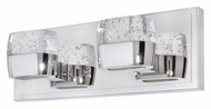 ET2 E22892-89PC Volt Modern Polished Chrome Finish 5  Tall LED 2 Light Bathroom Light