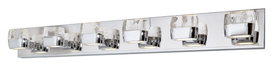 bathroom vanity lights chrome finish. ET2 E22896 89PC Volt Contemporary Polished Chrome Finish 40 25 Nbsp  Wide LED 6 Light Bathroom Loading Zoom