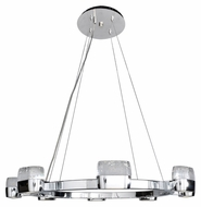ET2 E22898-89PC Volt Contemporary Polished Chrome Finish 28  Wide LED Lighting Pendant