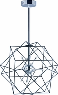 ET2 E22912-BKPC Rubic LED Modern Black and Polished Chrome Pendant Hanging Light