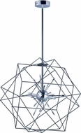 ET2 E22914-BKPC Rubic LED Contemporary Black and Polished Chrome Hanging Light Fixture