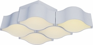 ET2 E24120-MW Billow Modern Matte White LED Ceiling Light Fixture