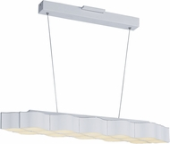 ET2 E24127-MW Billow Modern Matte White LED Island Light Fixture