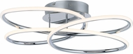 ET2 E24134-PC Coaster Modern Polished Chrome LED Ceiling Light Fixture