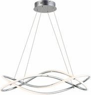 ET2 E24136-PC Coaster Contemporary Polished Chrome LED Island Lighting