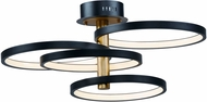 ET2 E24324-BKGLD Hoopla Contemporary Black / Gold LED Ceiling Light Fixture