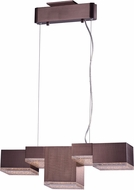 ET2 E24465-160COF Pizzazz Modern Coffee LED Kitchen Island Lighting