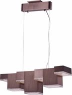 ET2 E24466-160COF Pizzazz Modern Coffee LED Island Light Fixture