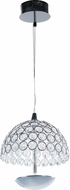 ET2 E24491-20PC Parasol Modern Polished Chrome LED Mini Hanging Pendant Lighting
